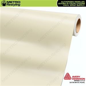 Avery SW900-117-O Satin White Pearlescent vinyl wrap film ideal for car wraps.