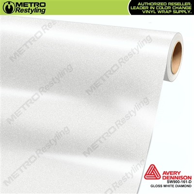 Avery Dennison SW900-161-D Gloss White Diamond vinyl wrap film ideal for car wraps.