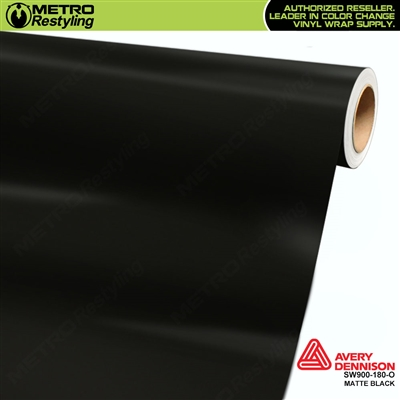 Avery SW900-180-O Matte Black wrap vinyl film ideal for car wraps.