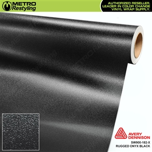 Avery Dennison SW900-182-X Rugged Onyx Black vehicle wrapping film