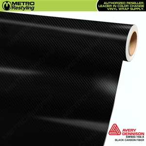 Avery SW900 Supreme Wrapping Vinyl Film Black Carbon Fiber