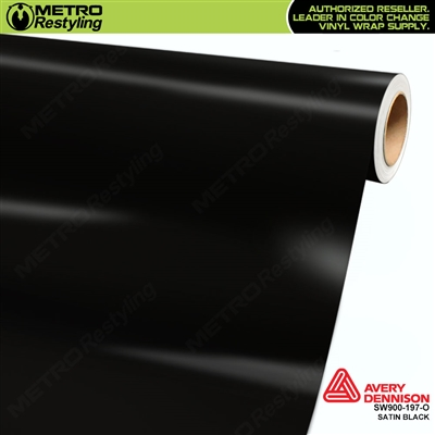 Avery SW900-197-O Satin Black vinyl wrap film ideal for car wraps.