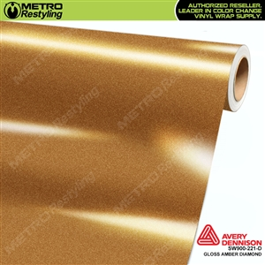 Avery Dennison SW900-221-D Gloss Amber Diamond vinyl wrap film ideal for car wraps.
