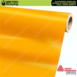 Avery SW900-226-O Satin Yellow vinyl wrap film ideal for car wraps.