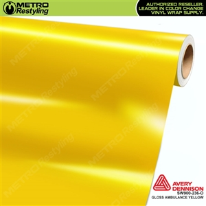 Avery SW900-236-O (old SKU SW900-234-O) Gloss Ambulance Yellow vinyl wrap film ideal for car wraps.