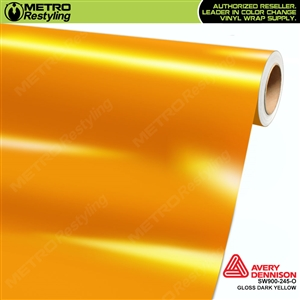 Avery SW900 Supreme Wrapping Vinyl Film Gloss Dark Yellow