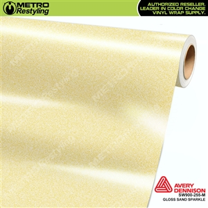 Avery SW900-255-M Gloss Sand Sparkle vinyl wrap film ideal for car wrapping.