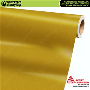 Avery SW900-260-S Satin Safari Gold vinyl wrap film ideal for car wraps.