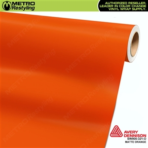 Avery SW900-321-O Matte Orange wrap vinyl film ideal for car wraps.