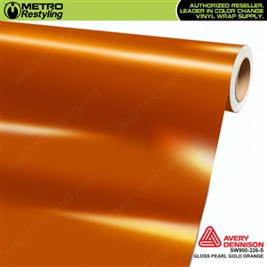 Avery SW900-326-O Gloss Gold Orange Pearlescent vinyl wrap film ideal for car wraps.