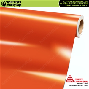 Avery SW900-327-O Gloss Orange Pearlescent vinyl wrap film ideal for car wraps.