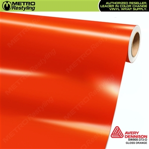 Avery SW900-373-O (old SKU SW900-370-O) Gloss Orange vinyl wrap film ideal for car wraps.