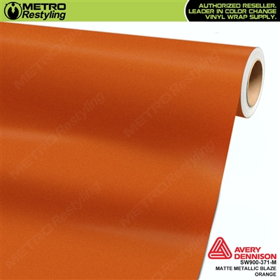 Avery Dennison SW900-371-M Supreme Wrapping Film Matte Blaze Orange Metallic car wrap film.