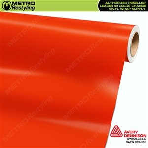 Avery SW900-372-O Satin Orange vinyl wrap film ideal for car wraps.