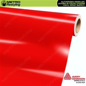 Avery SW900-415-O Gloss Red vinyl wrap film ideal for car wraps.