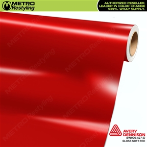 Avery SW900-427-O Gloss Soft Red vinyl wrap film ideal for car wraps.