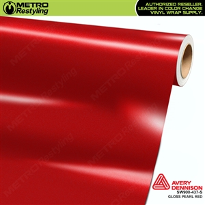 Avery SW900-437-S Gloss Red Pearl Metallic vinyl wrap film ideal for car wrapping.