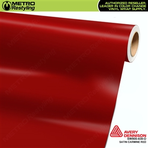 Avery SW900-438-O Satin Carmine Red vinyl wrap film ideal for car wraps.