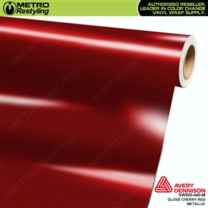Avery SW900 Supreme Wrapping Vinyl Film Gloss Cherry Red Metallic