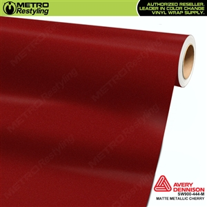 Avery Dennison SW900-444-M Supreme Wrapping Film Matte Cherry Red Metallic car wrap film.