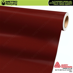 Avery Supreme Wrapping Vinyl Film Garnet Matte Metallic