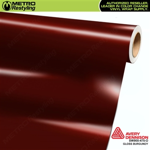 Avery SW900-475-O Gloss Burgundy vinyl wrap film ideal for car wraps.