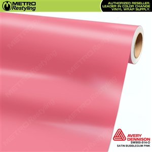 Avery SW900-514-O Satin Bubblegum Pink vinyl wrap film ideal for car wraps.