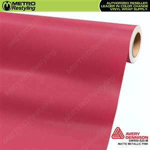 Avery SW900 Supreme Wrapping Film Pink Matte Metallic