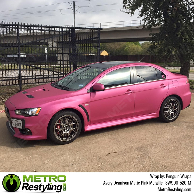 Avery Matte Metallic Pink Auto Wrap Vinyl Wrap Film Sw900 520 M Is