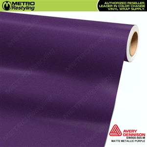 Avery Dennison SW900-565-M Supreme Wrapping Film Matte Purple Metallic car wrap film.
