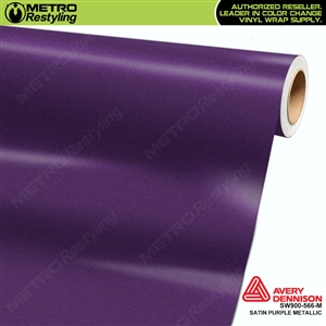 Avery Dennison SW900-566-M Supreme Wrapping Film Satin Purple Metallic car wrap film.