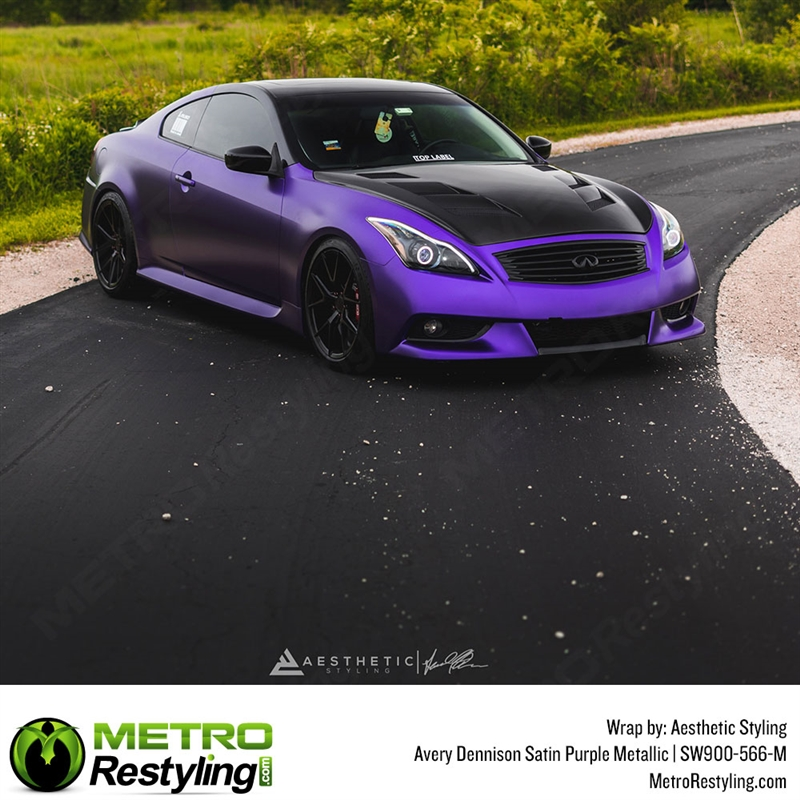 5ft x 1ft AVERY Supreme MATTE PURPLE METALLIC Vinyl car Wrap Decal Sticker ROLL