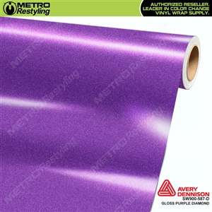Avery Dennison SW900-587-D Gloss Purple Diamond vinyl wrap film ideal for car wraps.