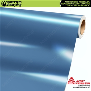 Avery SW900-612-O Gloss Smoky Blue is a pastel blue shade of a vinyl automotive wrap film.