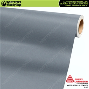 Avery Dennison SW900-614-M Supreme Wrapping Film Matte Powder Blue Metallic car wrap film.