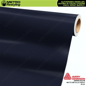Avery Dennison SW900-623-M Supreme Wrapping Film Matte Night Blue Metallic car wrap film.