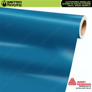 Avery SW900-633-O Satin Light Blue vinyl wrap film ideal for car wraps.
