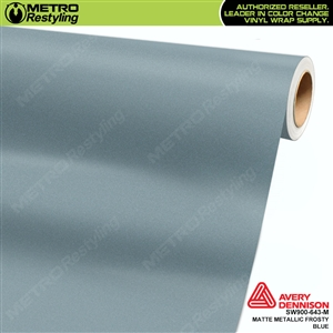Avery SW900 Supreme Wrapping Vinyl Film Frosty Blue Matte Metallic