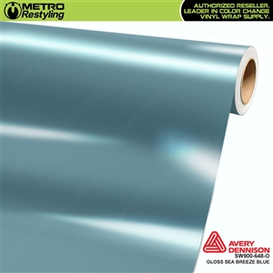Avery SW900-648-O Gloss Sea Breeze Blue is a pastel blue shade of a vinyl vehicle wrap film