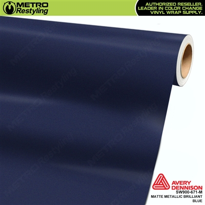Avery Dennison SW900-671-M Supreme Wrapping Film Matte Brilliant Blue Metallic car wrap film.