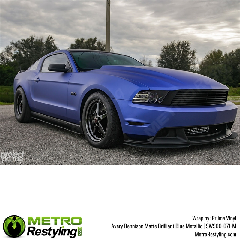 Avery Matte Brilliant Blue Metallic Auto Wrap Vinyl Wrap Film