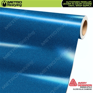 Avery Dennison SW900-676-D Gloss Blue Diamond vinyl wrap film ideal for car wraps.