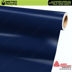 Avery SW900-682-O Satin Dark Blue vinyl wrap film ideal for car wraps.