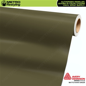 Avery SW900-711-O Matte Khaki wrap vinyl film ideal for car wraps.