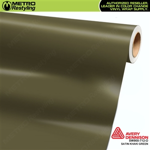 Avery SW900-712-O Satin Khaki vinyl wrap film ideal for car wraps.