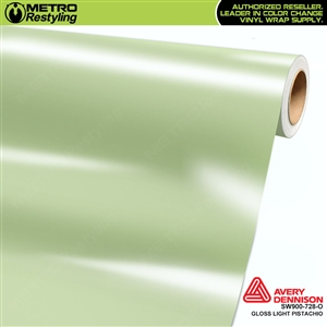 Avery SW900-728-O Gloss Light Pistachio is a pastel green shade of a vinyl vehicle wrap film