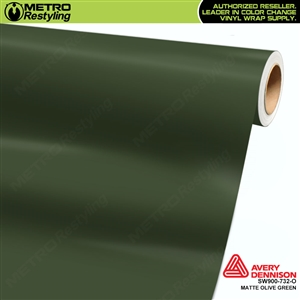 Avery SW900-732-O Matte Olive Green vinyl wrap film ideal for car wrapping.