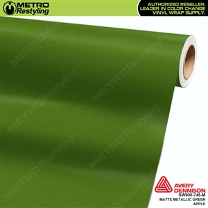 Avery Dennison SW900-745-M Supreme Wrapping Film Matte Green Apple Metallic car wrap film.