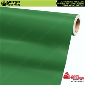 Avery SW900-751-O Matte Emerald wrap vinyl film ideal for car wraps.