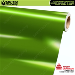 Avery SW900-758-O Gloss Grass Green vinyl wrap film ideal for car wraps.